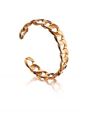 Brazalete Curb Link pequeño en oro rosa