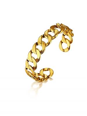 Brazalete Curb Link pequeño en oro
