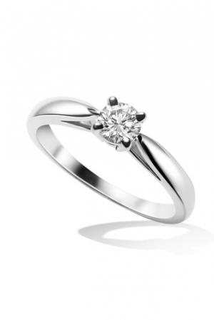 Solitario Bonheur de Van Cleef & Arpels en platino y diamantes