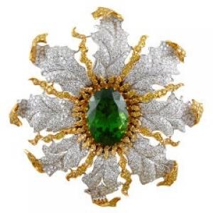Colgante Buccellati en diamantes y peridoto