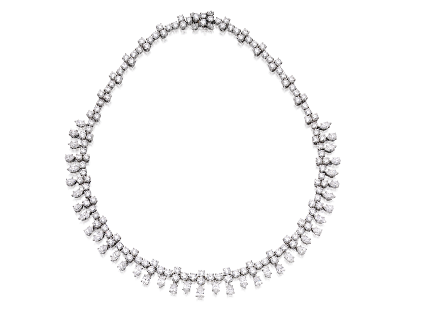 Collar Harry Winston en platino y diamantes