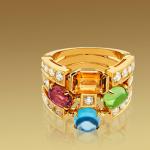 Anillo-Allegra-bulgari-3bandas-18qts-oroamarillo-turmalinarosa-peridoto-citrino-cuarzo-topacioazul-diamantes