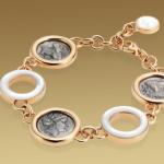 Brazalete-Monete-Bulgari-ororosa-18qts-madreperla-monedas-plata-antiguas