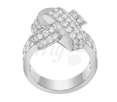 El anillo Alix XL con diamantes de Dinh Van