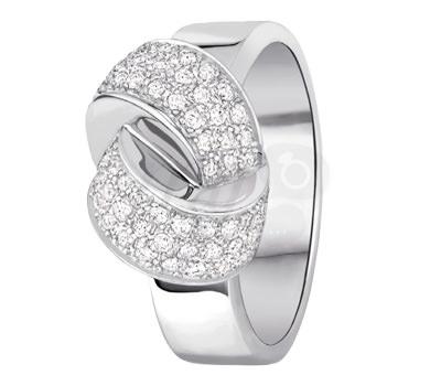 Anillo Alix de Diamantes y oro blanco