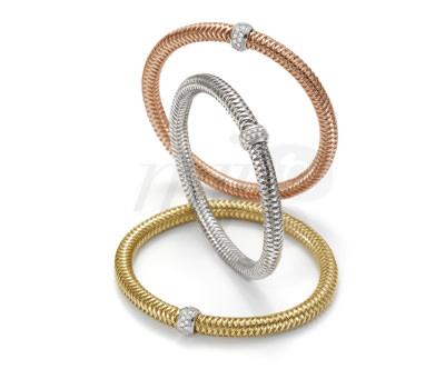 Brazaletes Primavera en oro y diamantes de Roberto Coin