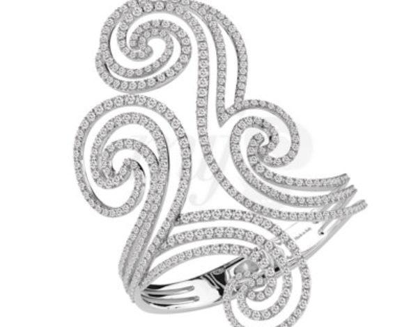 """El brazalete de diamantes """"Décor"""" de Damiani"""