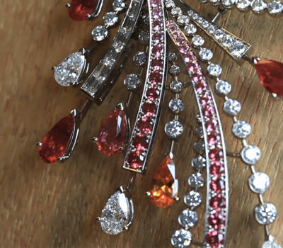 Detalle del collar Sunset de Joyas Georland