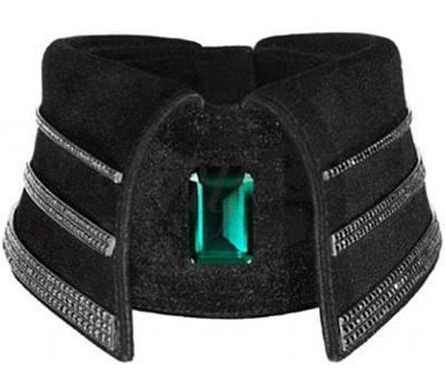 Collar con Diamantes Negros de Karl Lagerfeld