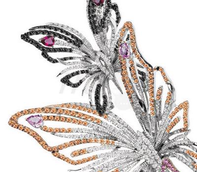 Mariposas de Zafiros Multicolores Collar Butterlfy de Damiani Joyas