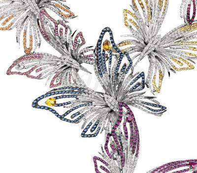 Ramo de Mariposas Collar Butterfly Joyas Damiani