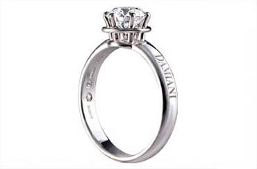 elegir un solitario de diamantes y oro blanco