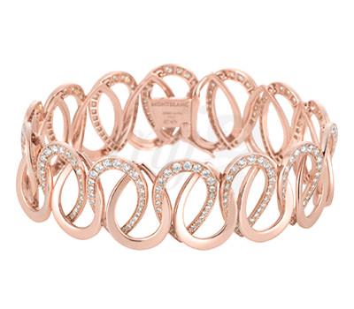 Brazalete oro y diamantes Princesa de Mónaco Joyas Montblanc