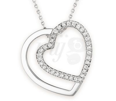Collar de corazón Love, Love, Love en Diamantes de O'fée Joyas