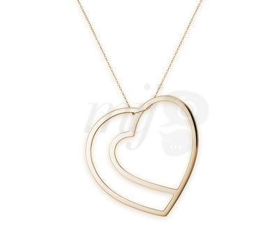 Collar Love, Love, Love de Oro Amarillo de O'fée Joyas