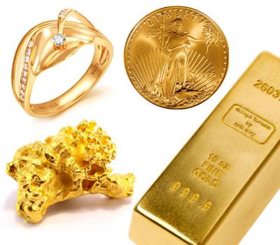 Oro en lingote Moneda Pepita y Sortija