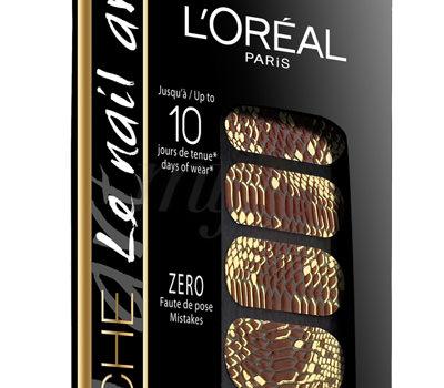 Pegatinas Esmalte Color Rich Nail Art L'Oréal Oro