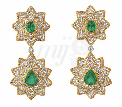Pendientes de esmeraldas nueva colección 2012 Joyas Buccellati