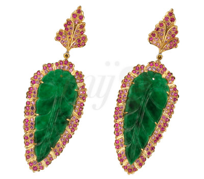 Pendientes de Jade grabado de la nueva colección Joyas Buccellati 2012