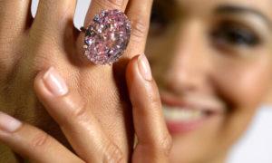 El Diamante Rosa, una piedra preciosa rosa