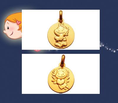 Medallas de nacimiento bebé Joyas La Fée Galipette