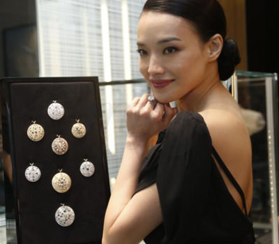 Shu Qi en la apertura De Beers de Shanghai