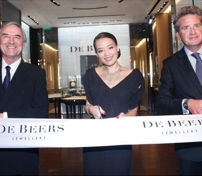 Shu Qi en la Inauguración Boutique De Beers en Shanghai China