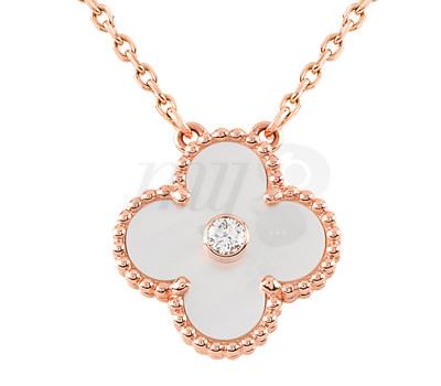 Collar Alhambra Vintage en oro rosa de Van Cleefs & Arpels
