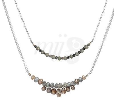 Collar en diamante Bruto Briolette Duo de Joyas Perle de Lune 2012