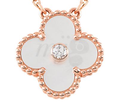 Contorno perlas Collar Alhambra Vintage en oro rosa de Van Cleefs & Arpels