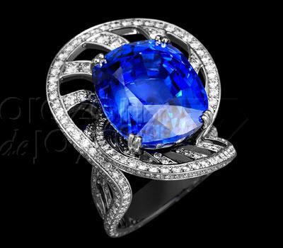 El diamante azul una piedra preciosa azul coraz 243 n de joyas