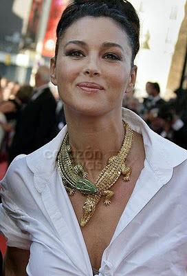 Monica Belucci con Collar histórico de Cartier encargo de María Félix