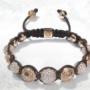 Las pulseras Shamballa de oro rosa