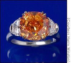 La sortija con el Pumpkin Diamond de Harry Winston