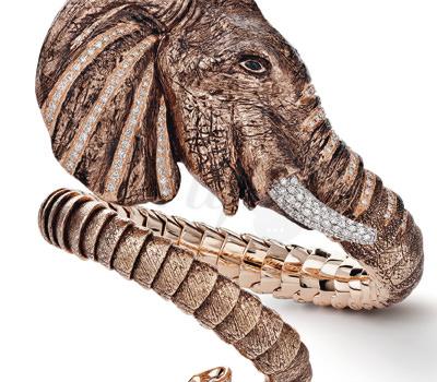 Detalle Brazalete Elefante Edicion Limitada de Roberto Coin Joyas