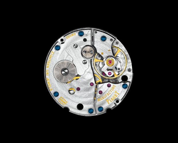 Detalle del movimiento mecánico ultraplano Piaget 430P reloj Tradicional