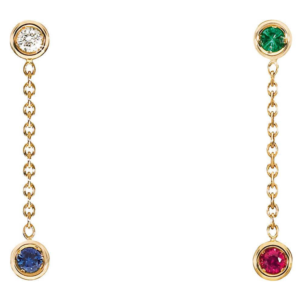 Pendientes Mimioui Dior con piedras preciosas