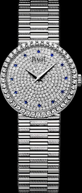 Reloj Tradicional en diamantes blancos y zafiros de Piaget