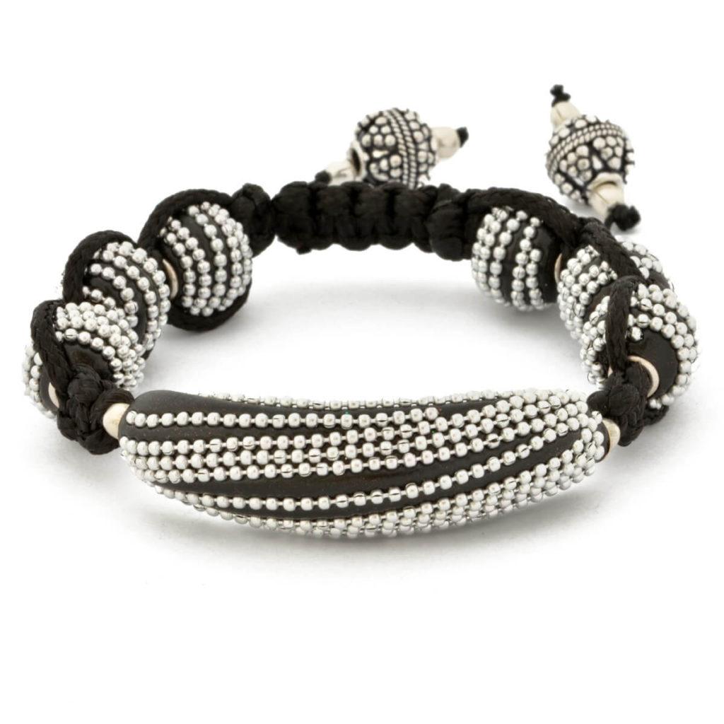 joyas de plata Pulsera_Shamballa_Cordon_Cadena_Plata