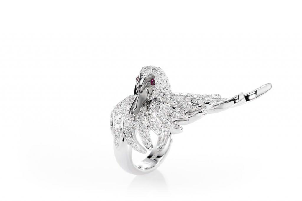 Anillo Cypris en diamantes blancos de Joyas Boucheron