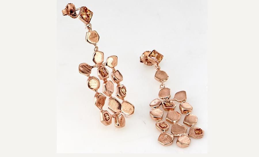 Aretes Diva de Oro de Oscar Figueroa Jewels