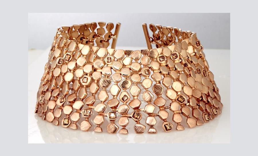 Collar XXL Diva de Oro de Oscar Figueroa Jewels