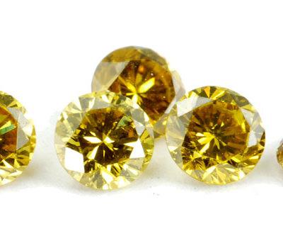 Diamantes Amarillos Piedra Preciosa en Joyería