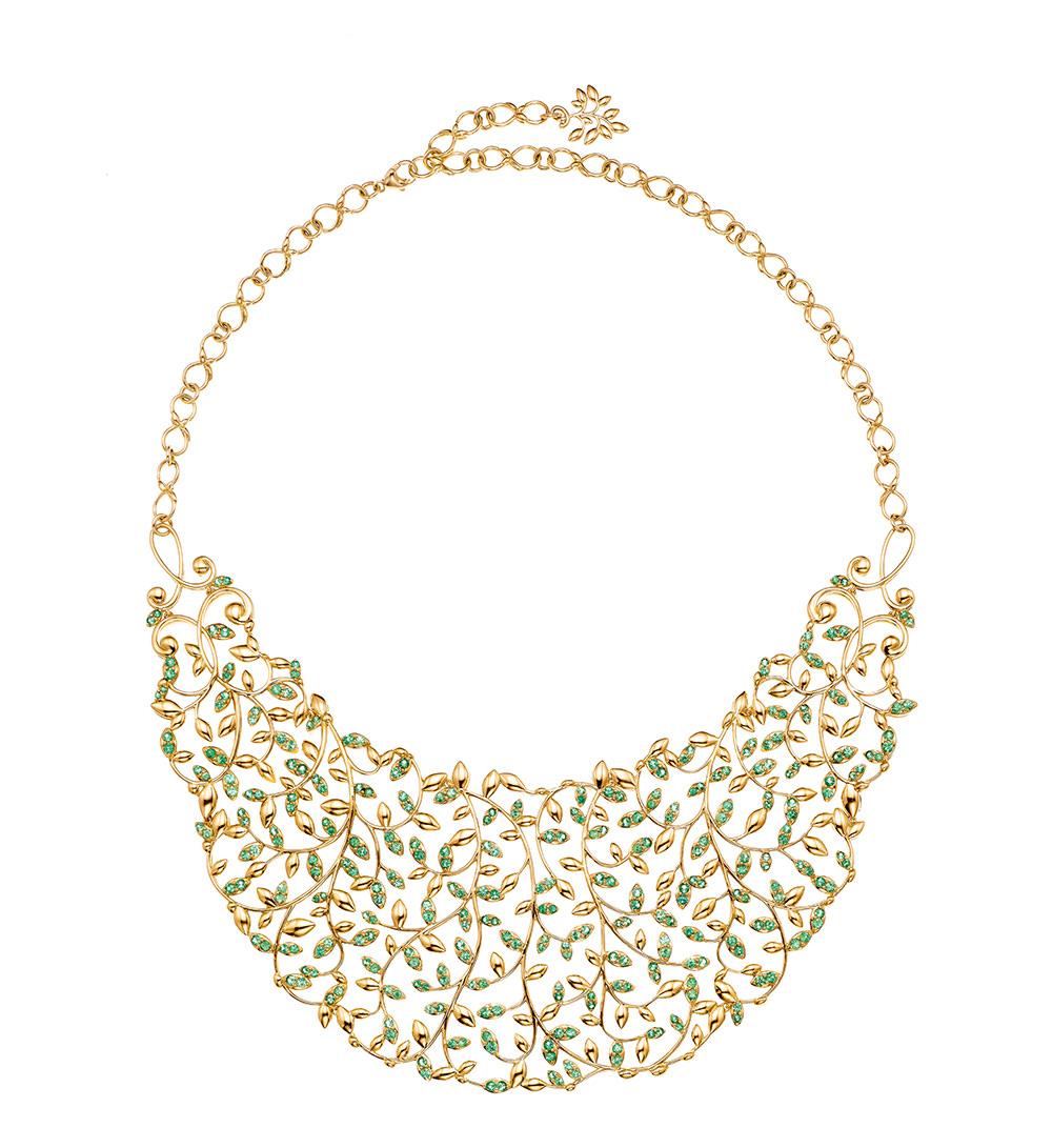 Collar Babero en oro y tsavoritas Colección Paloma's Olive Leaf para Tiffany