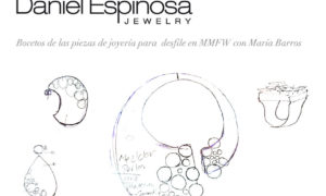 Daniel Espinosa con María Barros en la MMBFW