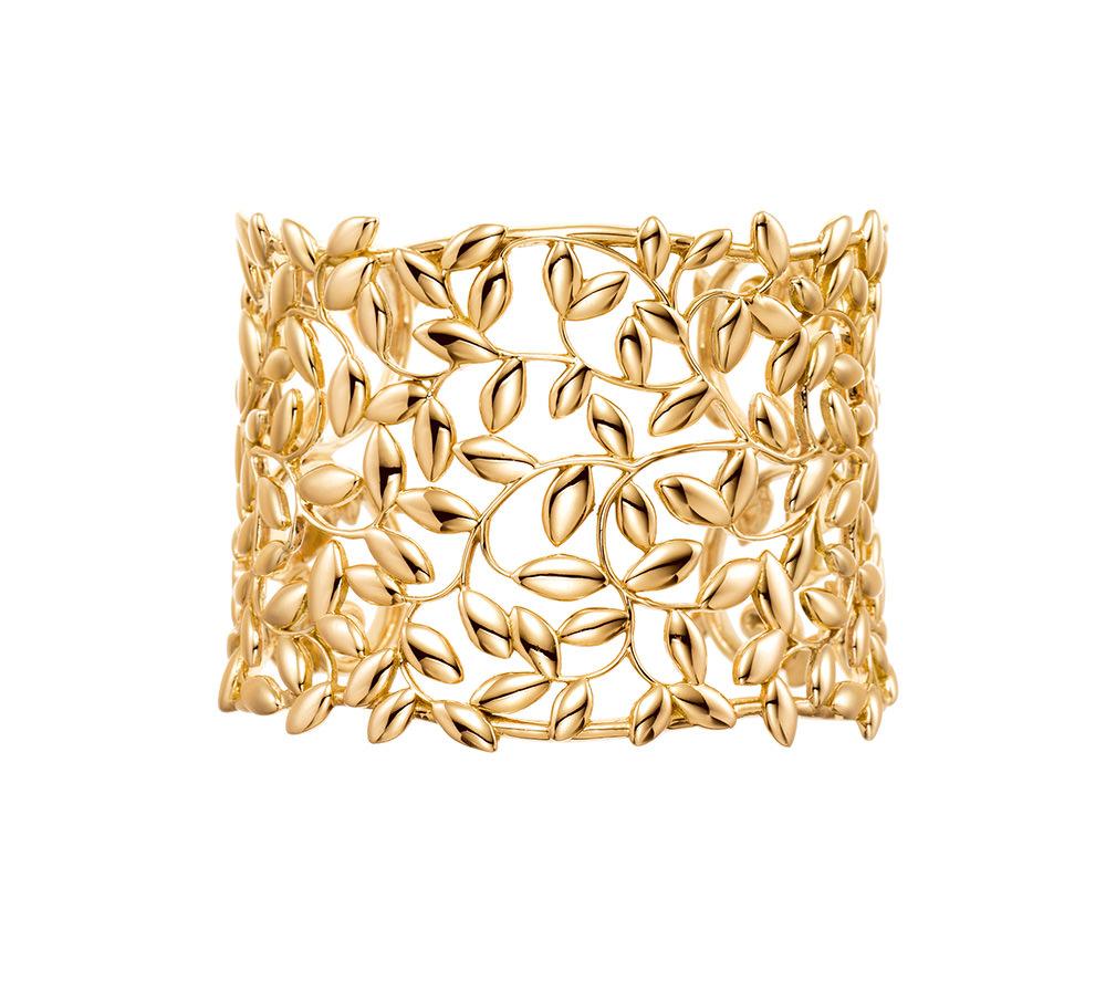 Brazalete en oro 18qts Colección Paloma's Olive Leaf para Tiffany