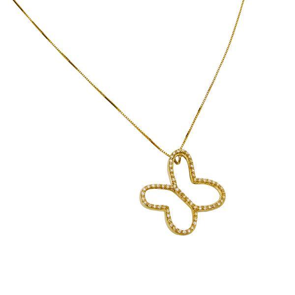 Dije o Colgante Mariposa Versalles en oro y diamantes de Tanya Moss