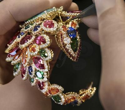 Engastado Pulsera Dentelle Opale D'Orient Dior Joyería