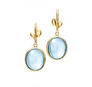 Pendientes colgantes en oro y topacio azul Colección Paloma's Olive Leaf para Tiffany