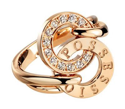 Sortija Piaget Possession en oro rosa y diamantes